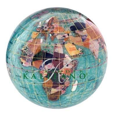 alaska blue gemstone globe paperweight