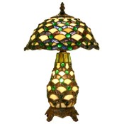 Spider - Green Jewels Tiffany Lamp - 10""
