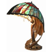 Flying Lady - Tiger's Eye Shade Tiffany Lamp