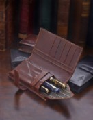 Conway Stewart Leather Three Pen Credit Card Case