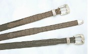 Trapper Shark & Caiman Crocodile Belt