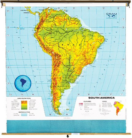 map of south america in spanish with capitals. south america physical