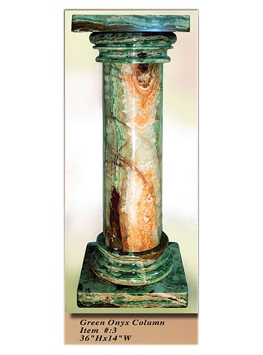 Interior Decorative Column No 3 Green Onyx