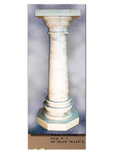 Interior Decorative Column No 1 White Onyx