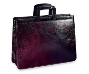 Sienna Collection Double Gusset Top Zip Leather Briefcase