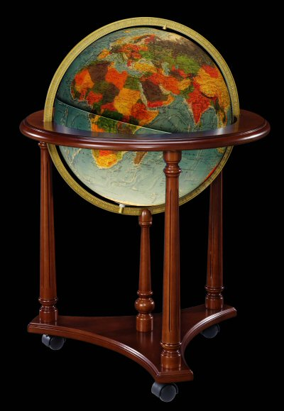 Replogle Lafayette Illuminated Floor Globe Blue