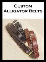 Custom Alligator Belts