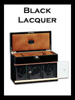 Underwood Rotobox Black Lacquer Wood Watch Winders
