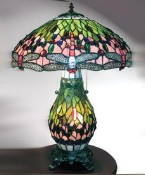 Green Dragonfly Tiffany Style Lamp