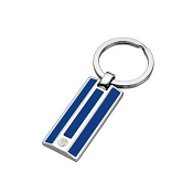 Caran d'Ache Blue Lacquered Silver-Plated Key Fob