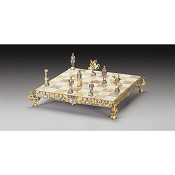 Medioevale (Medieval) Gold and Silver Themed Chess Board - Small