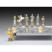 Vichinghi Gugleilmo Il Conquistatore Sec. X Gold-Silver Chess Pieces