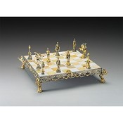Rinascimento Fiorentino XV Secolo  Gold and Silver Theme Chess Board