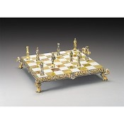 Calveri Di Bretagna Secolo XV British Calvary Gold Silver Chess Set