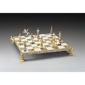 Cremlino Secolo XIX (Kremlin) Gold and Silver Themed Chess Board