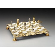 Samurai Gold and Silver Themed Chess Board