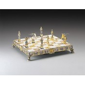 Sigfrido (Canto Dei Nibelunghi) Gold and Silver Themed Chess Board