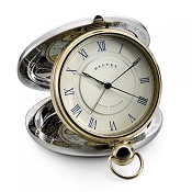 Dalvey Grand Odyssey Clock - Stainless Steel  - Gold Detail