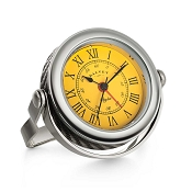 Dalvey Spyder Clock - Yellow