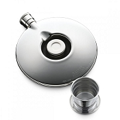 Dalvey Classic Flask with Cup - Stainless Steel Detail
