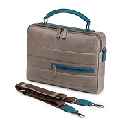 Fedon 1919 Award AW-FILE-0 Taupe/Teal Leather Laptop Bag