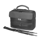 Fedon 1919 Award AW-BRIEF-1 Black/Dark Grey Leather Tech Briefcase