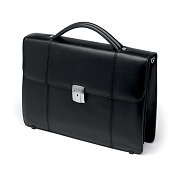 Fedon 1919 BT-CART-2 Black Leather Briefcase