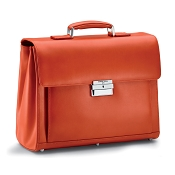 Fedon 1919 Classica MIB-TUC-M Leather Briefcase - Orange
