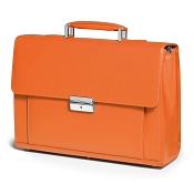 Fedon 1919 Classica MIB-TUC-S Leather Briefcase - Orange