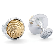 Jack Row Architect 18k Yellow and White Gold Cufflinks with Diamonds