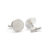 Jack Row Mirage Sterling Silver Cufflinks - Natural Silver