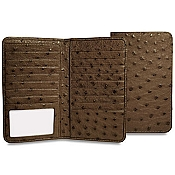 Jack Georges Genuine Ostrich Breast Secretary Wallet