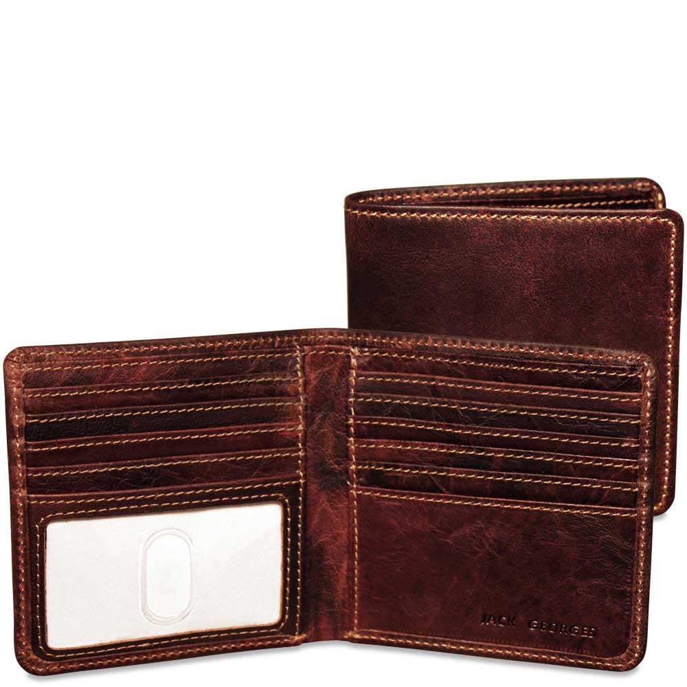 Jack Georges Voyager Leather Hipster Wallet 7303
