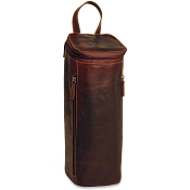 Jack Georges Voyager Leather Flapover Champagne Bag #7512