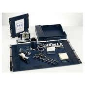Paolo Guzzetta Premier Leather Desk Set - Ink Mini Crocodile