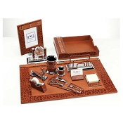 Paolo Guzzetta Premier Leather Desk Set - Classic Crocodile