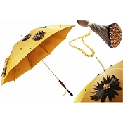 Pasotti Ombrelli Sunflowers On Gold Luxury Women's Umbrella