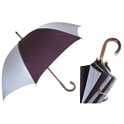 Pasotti Ombrelli Bi-Color Gray & Burgundy Men's Umbrella