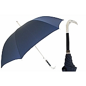 Pasotti Ombrelli Silver Fenicot Blue Men's Umbrella