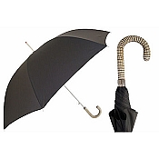 Pasotti Ombrelli Tapiro Leather Black Men's Umbrella