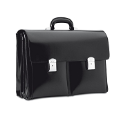 Pineider 1949 Leather Briefcase - Triple Gusset