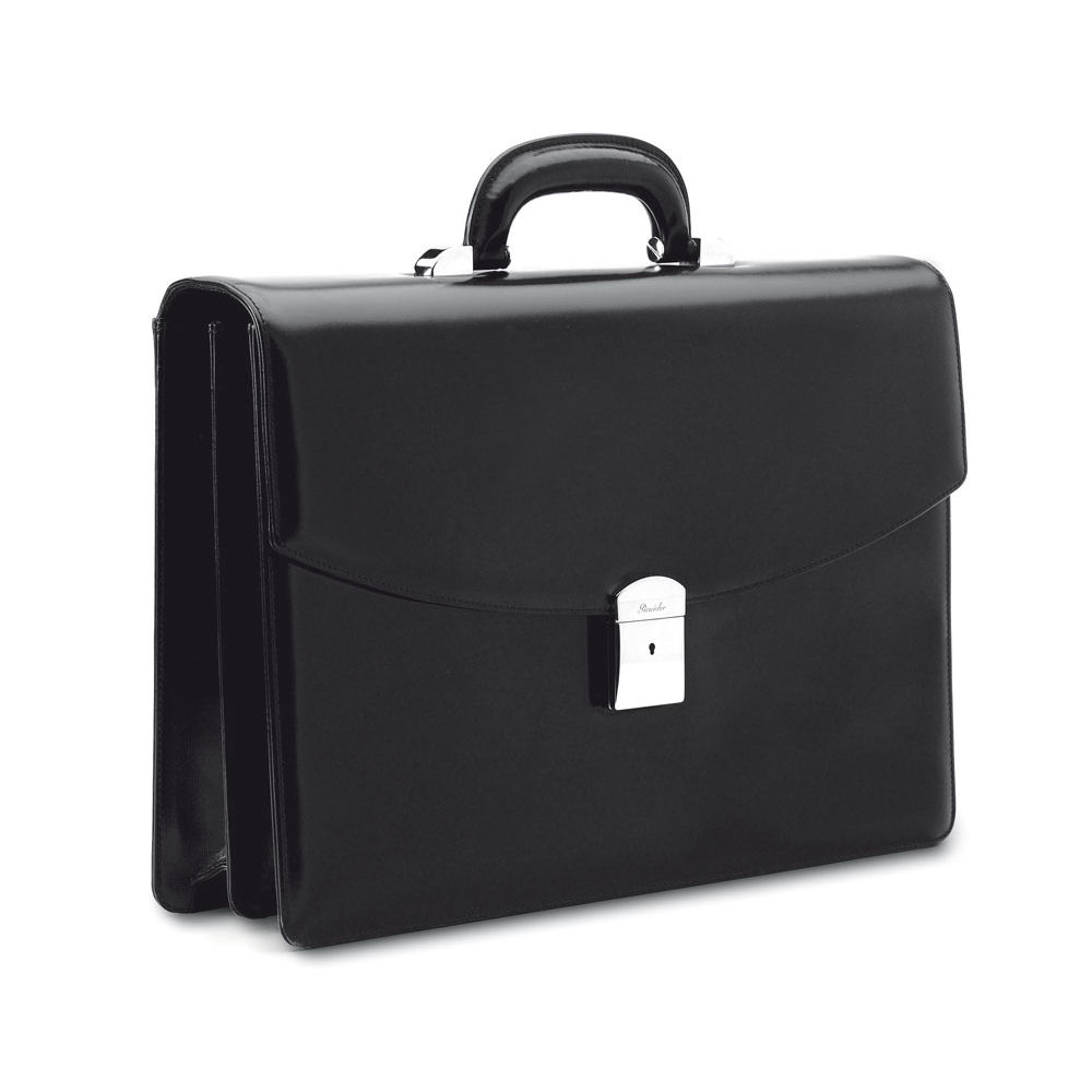 Briefe Case : Pineider classic executive leather briefcase