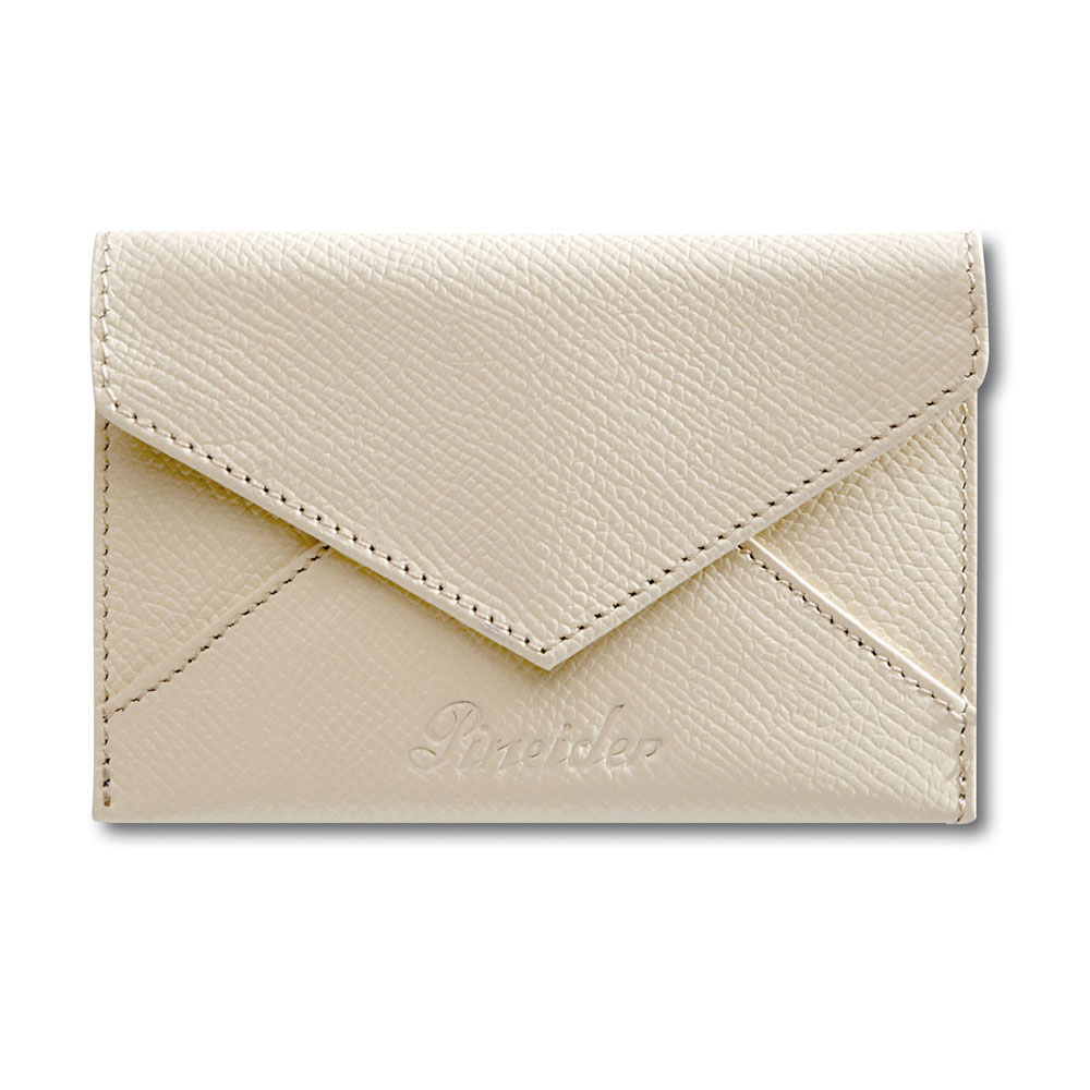 Pineider city chic leather business card holder envelope for Chic business card holder