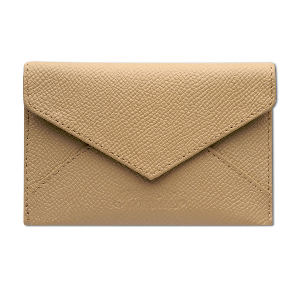 Pineider City Chic Leather Business Card Holder - Envelope Shaped