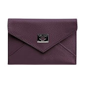 Pineider City Chic Leather Business Card Holder - Calfskin Envelope