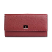 Pineider City Chic Leather Womens Flap Wallet