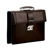Pineider Fall Edition Leather Briefcase - Double Gusset