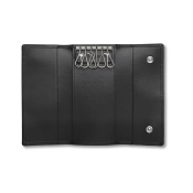 Pineider Milano 2012 Leather Key Case Wallet with Hooks