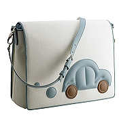 Pineider Baby Messenger Diaper Bag - Light Blue
