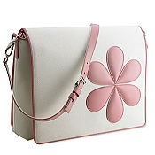 Pineider Baby Messenger Diaper Bag - Pink